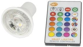 T-LED RGBW LED bodová žiarovka 5W GU10 230V Farba svetla: RGB + teplá bielá 021160
