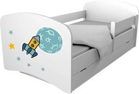 OR Detská posteľ 160x80 Special Edition RAKETA + úl. box
