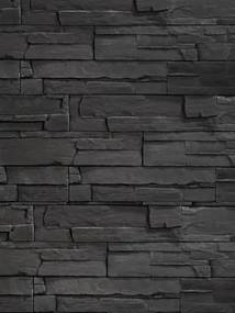 Imitácia kameňa obklad KRX09 Segment 39,5x9,5cm čierna