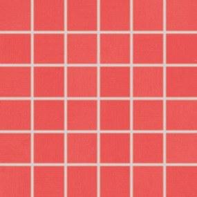 Mozaika Rako Tendence červená 30x30 cm pololesk WDM06053.1