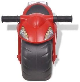 Detský motocykel, plastový, červený