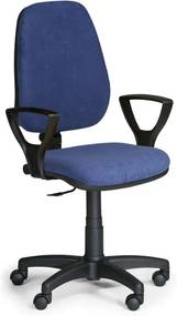 EUROSEAT Kancelárska stolička COMFORT PK s podpierkami rúk, modrá