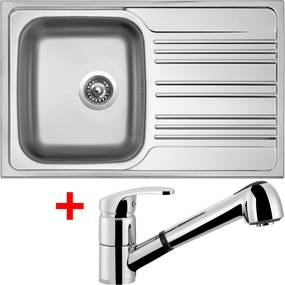 Set Sinks STAR 780 V matný + batéria LEGENDA S