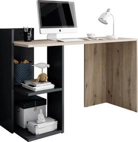 PC stôl, dub artisan/grafit, ANDREO