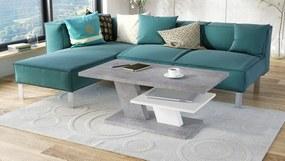 CLIFF betón / biely, konferenčný stolík