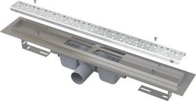 ALCAPLAST Antivandal podlahový žľab 650 mm s roštom, mat APZ11-650M