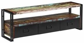 vidaXL Skrinka na TV recyklovaný masív 120x30x40 cm