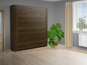 Nabytekmorava Výklopná posteľ VS 3070P, 200x140cm nosnost postele: štandardná nosnosť, farba lamina: orech 729