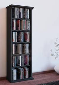 CD a DVD skrinka Vetro, čierna