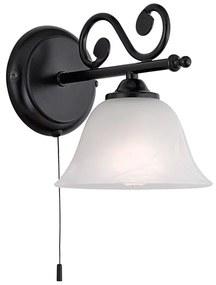 Interierové rustikálne svietidlo EGLO MURCIA biela / čierna 91006