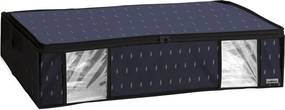 Čierny vakuový úložný box na oblečenie Compactor Kasuri, 145 l