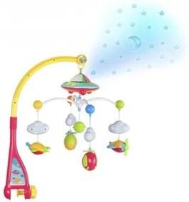 Kolotoč nad postieľku s projektorom hviezdičiek