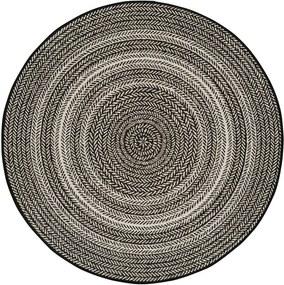 Čierny vonkajší koberec Universal Silvana Rutto, ⌀ 120 cm