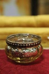 Zlaté skielka na čajovú sviečku 4-set 6cm