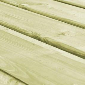 vidaXL 3-dielna vonkajšia jedálenská súprava FSC drevo