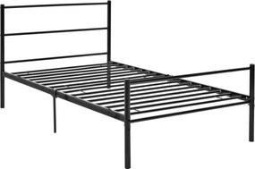 [en.casa]® Kovová posteľ s matracom AADB-1703M