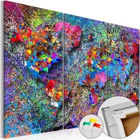 Obraz na korku - Colourful Whirl [Cork Map] 90x60