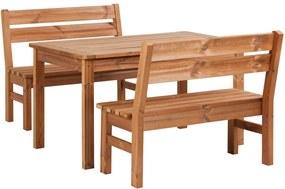 Záhradný drevený set PROWOOD z ThermoWood - SET M4 - Set + dodanie náteru v odtieni HONEY + PCD 91
