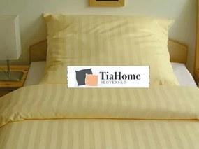 Obliečky damaškové žlté TiaHome 1x Vankúš 90x70cm, 1x Paplón 140x200cm