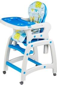 Detská jedálenská stolička 3v1 - modrá