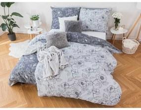 MKLuzkoviny.cz Krepové obliečky Renforcé – Viola sivé 135 × 200 cm