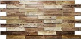 Obkladové 3D PVC panely TP10011591, rozmer 980 x 480 mm, drevený obklad dub holandský, GRACE