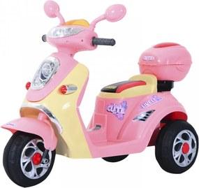 Dětská elektrická motorka | růžová