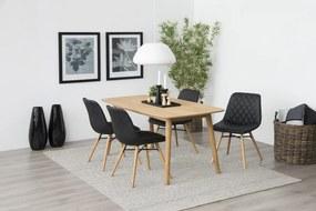 Štýlová jedálenská stolička Albin, čierna