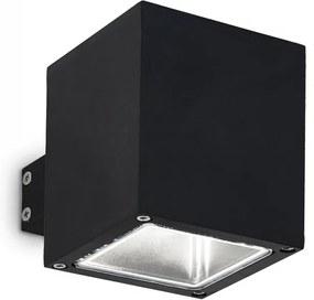 Ideal Lux 123080 vonkajšie nástenné svietidlo SNIF Square Nero 1x40W | G9 | IP44