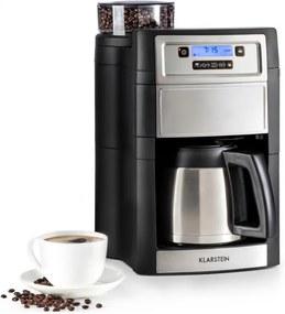 Klarstein Aromatica II Thermo, kávovar, integrovaný mlynček, 1.25 l, strieborný