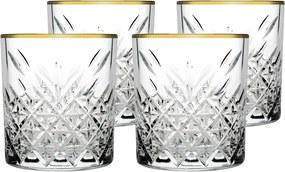 Mäser 4dílná Sada sklenic na whisky Timeless Golden Touch, 345 ml
