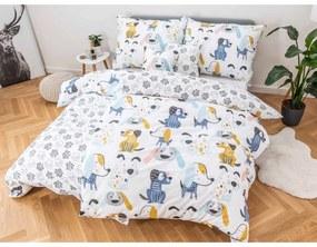 JAHU collections Bavlnené obliečky Dita – Dogs + malá obliečka na vankúšik 140x200/70x90cm