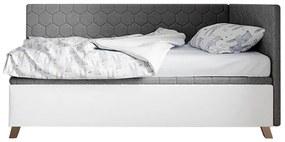 ArtIdz Čalúnená posteľ SOLO - FIDO sivá 80 x 200 cm Farba: Sivá, Prevedenie: pravé