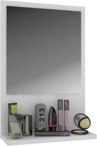 Lacné menšie zrkadlo s odkladacou poličkou - Dub Rustikal