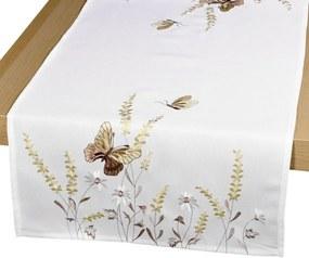 Forbyt Obrus Motýle béžová, 40 x 90 cm