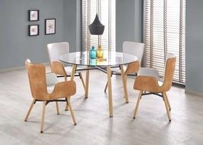Jedálenský stôl sklenený YUKON Halmar