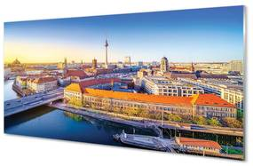 Nástenný panel Berlín riečny mosty 125x50cm