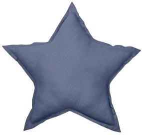 Dadaboom.sk Ľanový vankúš hviezda modrá