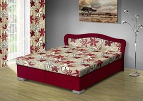 Nabytekmorava Čalúnená posteľ s úložným priestorom Sára170 čalúnenie: bordo/MEGA 17 bordo, Typ roštov: polohovacie