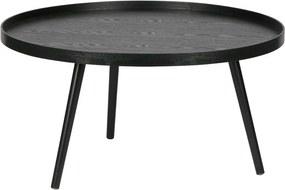 Čierny konferenčný stolík WOOOD Mesa, ø 78 cm