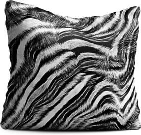 Vankúš Oyo home Zebra, 40 x 40 cm