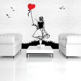 Fototapeta - Dievča s balónom (254x184 cm), 10 ďalších rozmerov