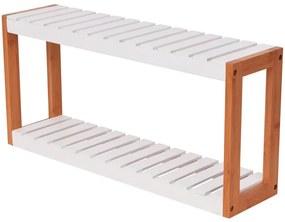 Regál do kúpeľne, bambusový, 60x15x28,5 cm