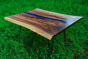 ES -  Masívny konferenčný stolík ERAF 84 cm americký orech, prírodný