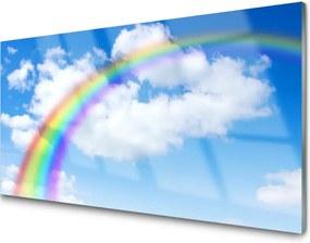 Obraz na akrylátovom skle Dúha Nebo Mraky Príroda