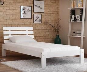 AMI nábytok Posteľ biela Karla  90x200 masív