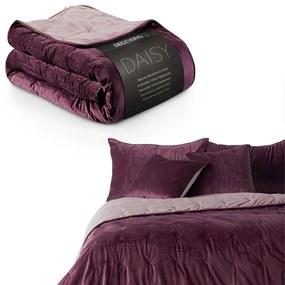 Obojstranný prehoz na posteľ DecoKing Daisy fialový