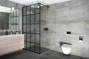 Kovová industriálnej priečka do sprchovacieho kúta Surová oceľ bez povrchovej úpravy