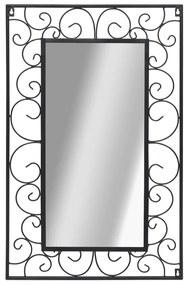 vidaXL Nástenné zrkadlo čierne 50x80 cm obdĺžnikové