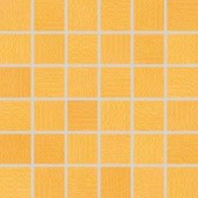 Mozaika Rako Trinity oranžová 30x30 cm lesk WDM05094.1